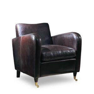 Jennifer, Pleine fleur fauteuil en cuir idéale pour le salon