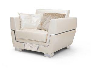 MONTE CARLO / fauteuil, Fauteuil en cuir naturel