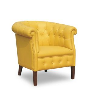 Rebecca, Fauteuil en cuir recouvrant adapté aux environnements de style classique