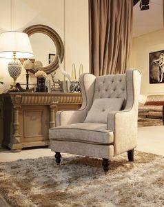 Venere fauteuil, Chaise avec repose-pieds, le dossier touffet�
