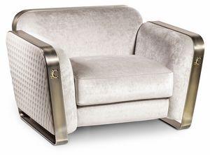 Voyage fauteuil, Fauteuil vintage, en m�tal et tissu
