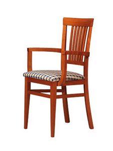 316 P, Chaise en bois, style simple, pour le restaurant