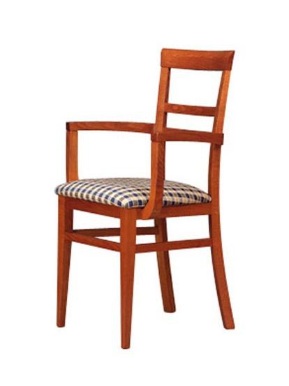 314 P, Chaise en bois, assise rembourrée, pour les hôtels