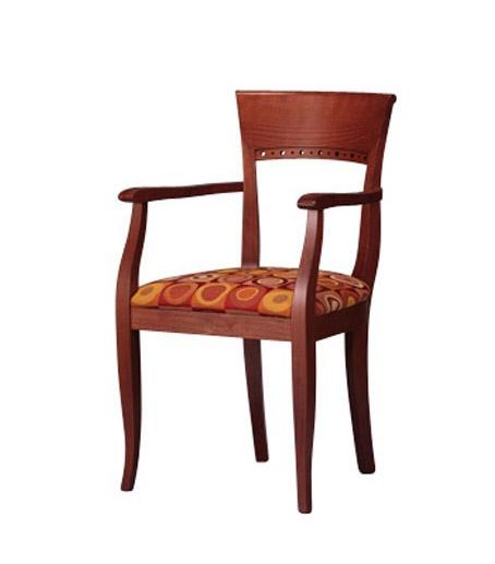 441, Beech Chaise en bois avec accoudoirs, pour les hôtels