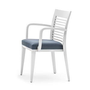 Logica 00925, Salle à manger chaise avec accoudoir , empilable et avec assise rembourrée