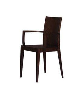 334, Chaise entièrement en bois de hêtre, pour les restaurants