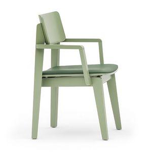 Offset 02822, Polyvalent chaise avec accoudoirs disponibles en différentes finitions