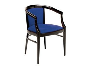 064, Fauteuil de style classique en bois peint, pour les restaurants