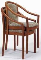 176, Chaise avec accoudoirs, en hêtre, empilable, pour un restaurant