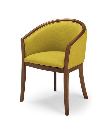 355, Chaise en bois avec des hanches rembourrées