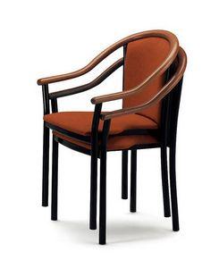 408, Chaise avec accoudoirs, élégants et classiques, pour les bars