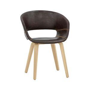 7851, Chaise recouverte de cuir écologique
