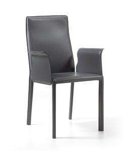 Ara br, Chaise moderne, entièrement recouverte de cuir