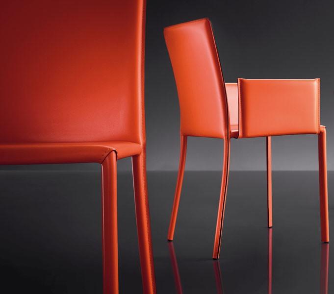 ART. 236/B SUNRISE, Fauteuil en cuir, cadre en métal, pour les restaurants