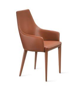 Evelin br, Chaise entièrement recouverte de cuir