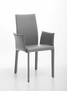 Fortune fauteuil, Fauteuil en acier entièrement recouvert de cuir
