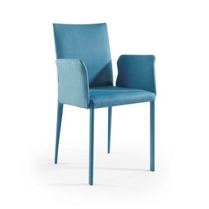 Jury low BR, Chaise moderne avec revêtement en tissu et accoudoirs