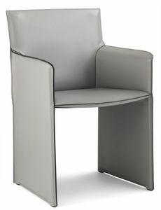 Pasqualina lounge fauteuil 10.0088, Petit fauteuil avec des côtés recouverts de cuir