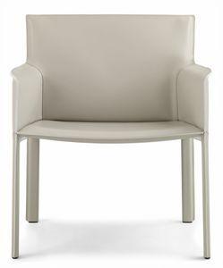 Pasqualina relax fauteuil 10.0089, Petit fauteuil à assise large en cuir