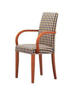 298, Chaise avec accoudoirs, rembourré, pour les cuisines