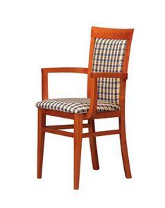 312 P, Chaise rembourrée avec accoudoirs, essentiel, pour le salon