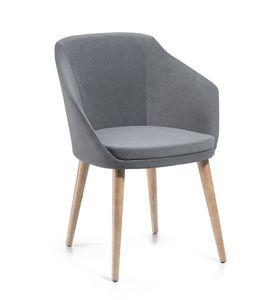 Adele PL, Chaise rembourrée en tissu