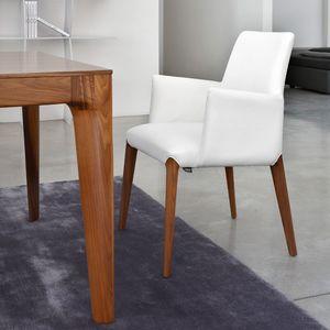 ART. 253/B INES, Petit fauteuil moderne, rembourré, jambes de bois