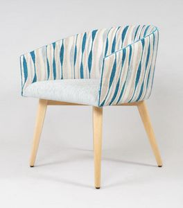 BS499A - Chaise, Chaise rembourrée de style contemporain