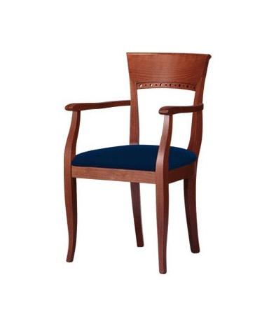 C18, Chaise avec accoudoirs, en bois de hêtre, pour les cantines