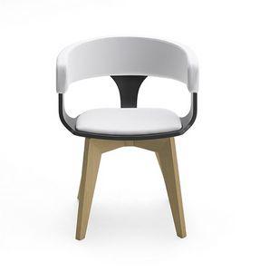 CG 918040, Chaise en bois avec accoudoirs, avec rembourrage