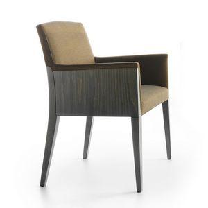 Charme 02531, Petit fauteuil  adapté pour les hôtels et les communautés d'ameublement