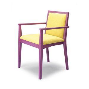 D05, Chaise avec accoudoirs, en bois de hêtre