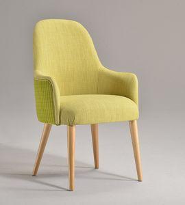 DALIA chaise avec accoudoirs 8777A, Chaise avec accoudoirs, rembourrée, avec finition personnalisable