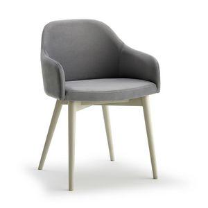 Emma P, Chaise avec pieds en frêne