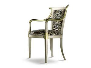 JENNY armchair 8267A, Fauteuil de style classique avec accoudoirs bien en forme