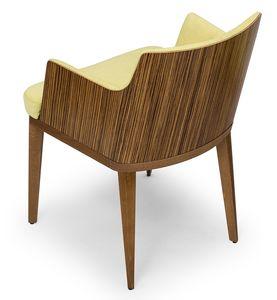 Kate wood ARMS, Petit fauteuil en bois zebrano