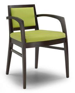 Ketty I, Chaise moderne avec accoudoirs, pour les restaurants et les hôtels
