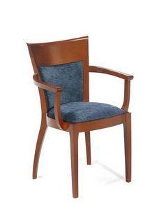 Lara I, Chaise avec accoudoirs, en hêtre, en différentes couleurs