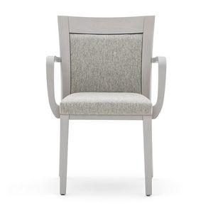 Logica 00922, Chaise empilable avec accoudoirs en bois