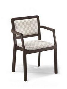 Morena PL-I, Chaise avec accoudoirs, rembourré, pour pizzerias et maisons