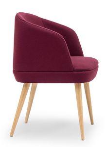 Noemi ARMS, Petit fauteuil avec des jambes en bois