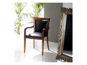 PEGGY armchair 8247A, Fauteuil rembourré recouvert de cuir, empilable