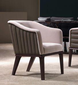 PO67 Club fauteuil, Fauteuil avec coutures verticales