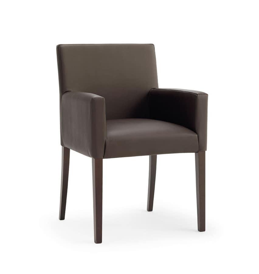 POLTRONA RELAX, Essential chaise avec cadre en bois de hêtre