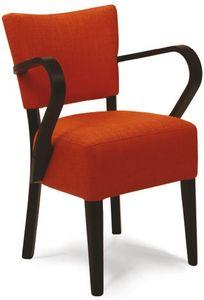 Portocervo P, Chaise rembourrée en bois peint, en différentes couleurs
