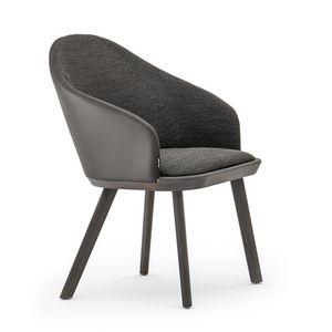 Rivolì 03331, Chaise rembourrée moderne en polyuréthane ignifuge
