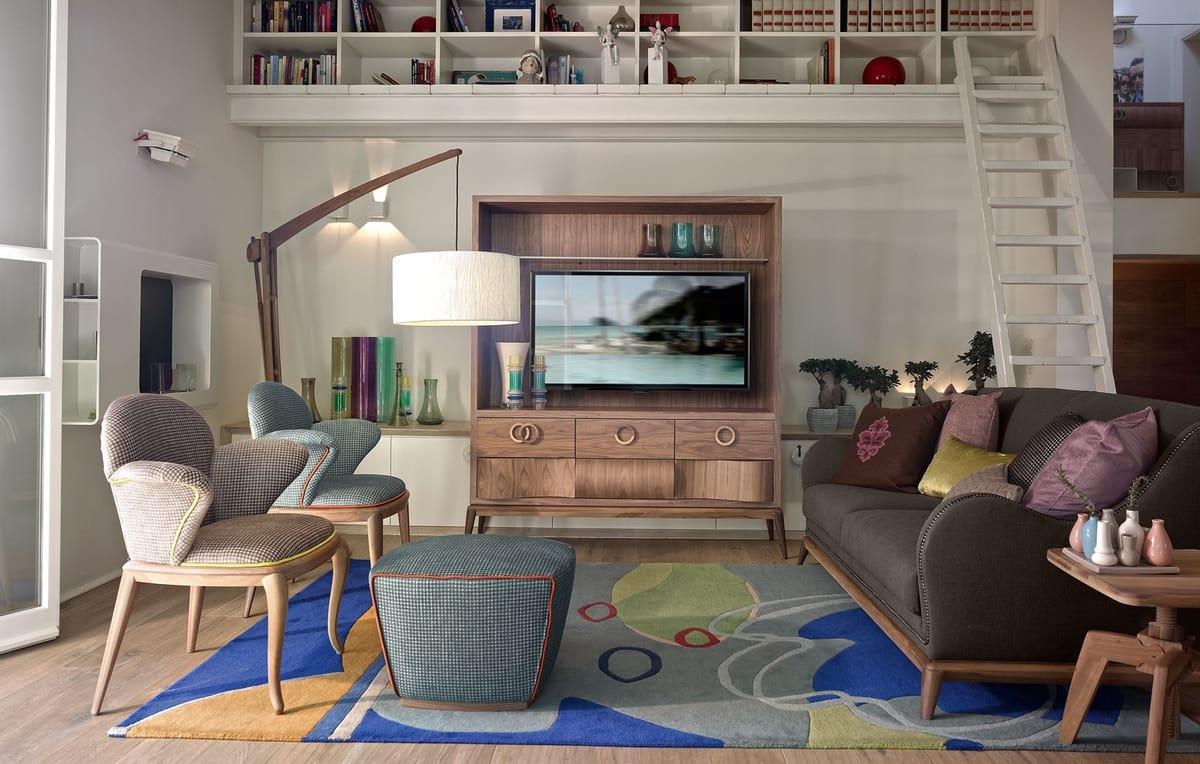 Rolling chaise avec accoudoirs, Chaise pour usage domestique et contractuel