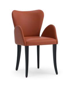 VENTO fauteuil, Petit fauteuil rembourré, avec un goût classique