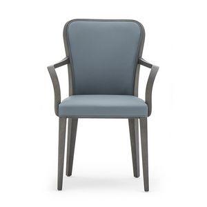 Wave 02721, Chaise en bois avec accoudoirs idéal pour salle à manger