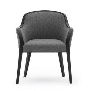 Wave 02731, Petit fauteuil rembourré adapté pour hôtel et restaurant
